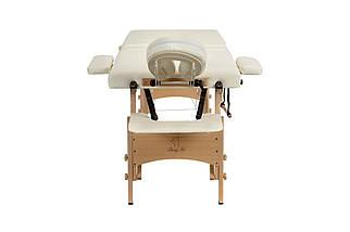 Массажный стол BODYFIT 4 секционный деревянный, бежевый, фото 3