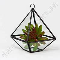 """Стеклянная ваза для флорариума, """"фонарик"""" маленький, 14 см"""