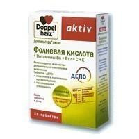 Доппельгерц Актив Фолиевая кислота+вит.1,111г №30таб (БАД)