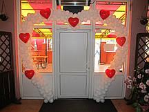 Свадебная арка с сердцами 8 м