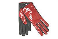 """Перчатки женские кожаные """"Alpa gloves"""" красные лаковые"""