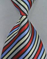 Галстук мужской широкий в разноцветную полоску KAILONG