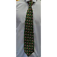 Bow Tie House™ Галстук зеленый новогодний в квадратики с Дедом Морозом
