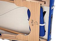 Массажный стол BodyFit XL 2 сегментный деревянный, синий, фото 2