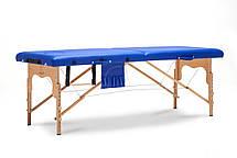 Массажный стол BodyFit XL 2 сегментный деревянный, синий, фото 3