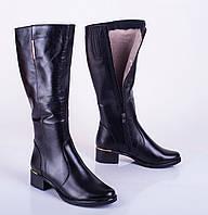 Женские кожаные сапожки, зима