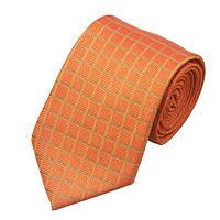 JASON&VOGUE Галстук оранжевый в квадратик (JASON&VOGUE)