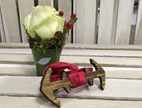Bow Tie House™ Бабочка деревянная в форме якоря Sea Style