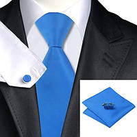 JASON&VOGUE Подарочный галстук синий классический