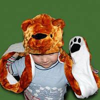 Шапка маска с лапками Медведь