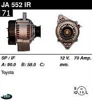 Генератор Toyota Carina II Corolla 1.6i 87-92г 70A JA552IR