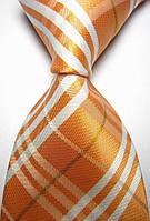 KAILONG Галстук оранжевый в полоску