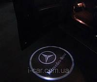 Проекция логотипа автомобиля Mercedes
