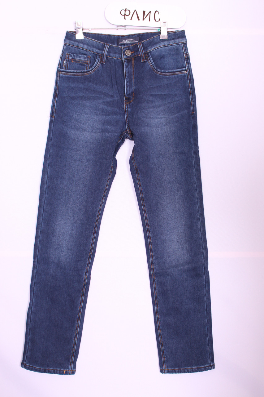 Утепленные стильные мужские джинсы  LS Luvans (код 2630)