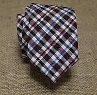 Галстук мужской шерстяной в клетку с вишневым Bow Tie House™