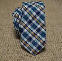 Галстук мужской шерстяной зеленый в клетку Bow Tie House™