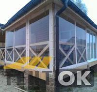 Мягкие окна и шторы (тенты) для беседок из ПВХ