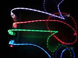 Світиться кабель USB-MicroUSB для смартфонів ЧЕРВОНИЙ УЦІНКА SKU0000275, фото 5
