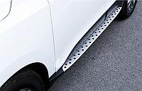 Пороги боковые Hyundai IX35 стиль BMW