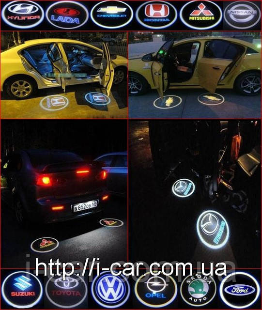 Проекция логотипа автомобиля Dacia