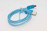Світиться кабель USB-MicroUSB для смартфонів СИНІЙ SKU0000274, фото 6