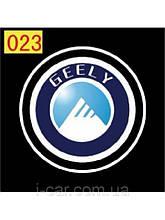 Проекція логотипу автомобіля Geely