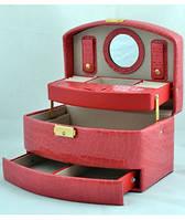 Шкатулка для украшений,ювелирных изделий,бижутерии №8965 (розовая),товары для женщин