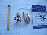 Сережки золоті з фіанітами 3.41 грама ЗОЛОТО 585 проби, фото 9