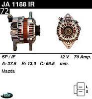 Генератор Mazda 323 1.3  1.5  1.8 91-98г Xedos 6 1.6 94г 70A JA1188IR