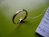 КОЛЬЦО для помолвки 16 размер 1.58 грамма Золото 585 пробы, фото 3