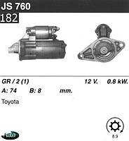 Стартер Toyota Corolla Avensis Celica Corona JS760