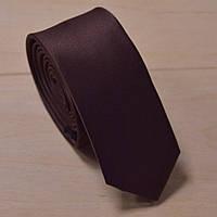 Галстук узкий шоколадный матовый Bow Tie House™