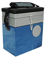 Ящик алюминиевый для зимней рыбалки двухсекционный 0133