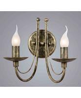 Кованные бра свечи на две лампы в гостиную, зал BLITZ Classical Style 1733-12