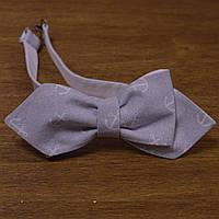 Bow Tie House™ Галстук бабочка уголком серая с якорями двухсторонняя