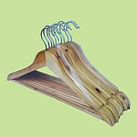 Деревянные плечики с сучками в упаковке 10 шт.
