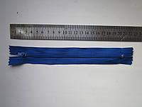 Молния капроновая Т-3 18 см синяя
