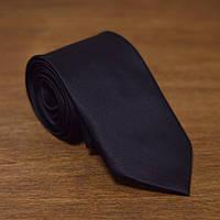 Галстук черный классический BTH Tie