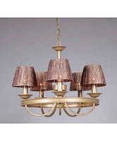 Подвесная люстра с абажуром на 5(пять) плафонов в зал, гостинную BLITZ Classical Style 1751-45