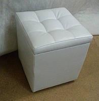 Пуфик кресло белый мягкий
