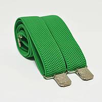 Польша Подтяжки мужские зеленые 3.5 см Y