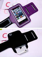 Чохол спортивний на руку для смартфонів з екраном до 4 дюймів ФІОЛЕТОВИЙ SKU0000868, фото 1