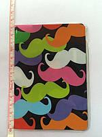 Обложка для паспорта пластиковая - яркие усы