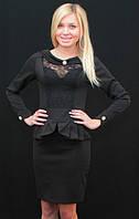 Платье до колена черное, фото 1