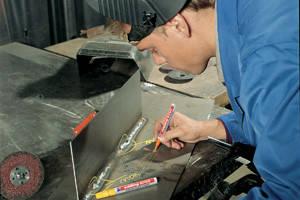 Лаковый маркер по металлу edding 8750 Industry Paint синий