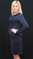 Платье до колена синее