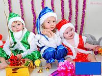 Детский карнавальный костюм Гнома, Эльфа, Санта (красный)