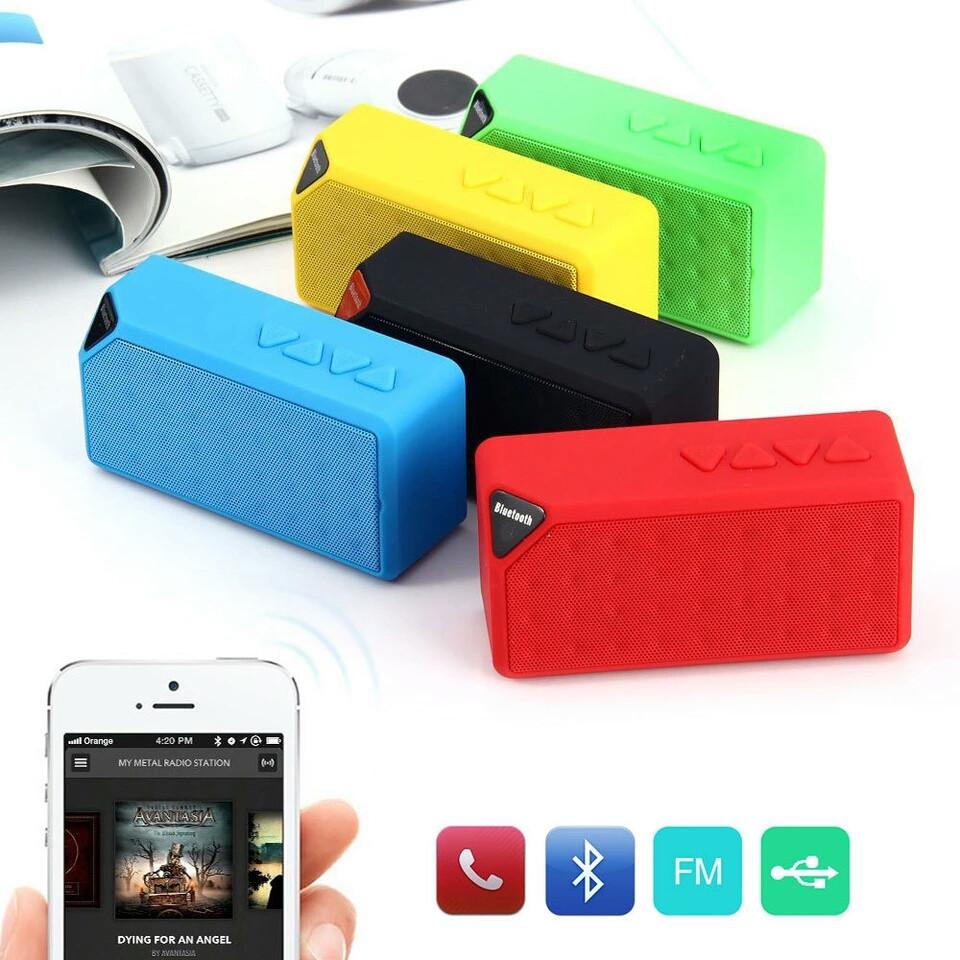 Колонка беспроводная Bluetooth блютуз зеленая, LED, USB, micro SD, FM, AUX