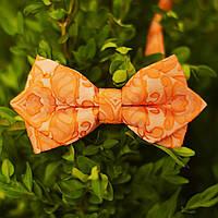 Бабочка мужская оранжевая с узором