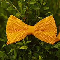 Bow Tie House™ Бабочка вязаная желтая